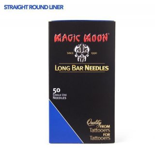 07 Straight Round Liner Needles Medium Taper 0,35mm