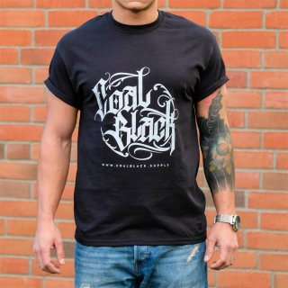Coal Black T-Shirt (schwarz) Front Print