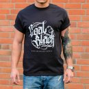 Coal Black T-Shirt (black) Front Print