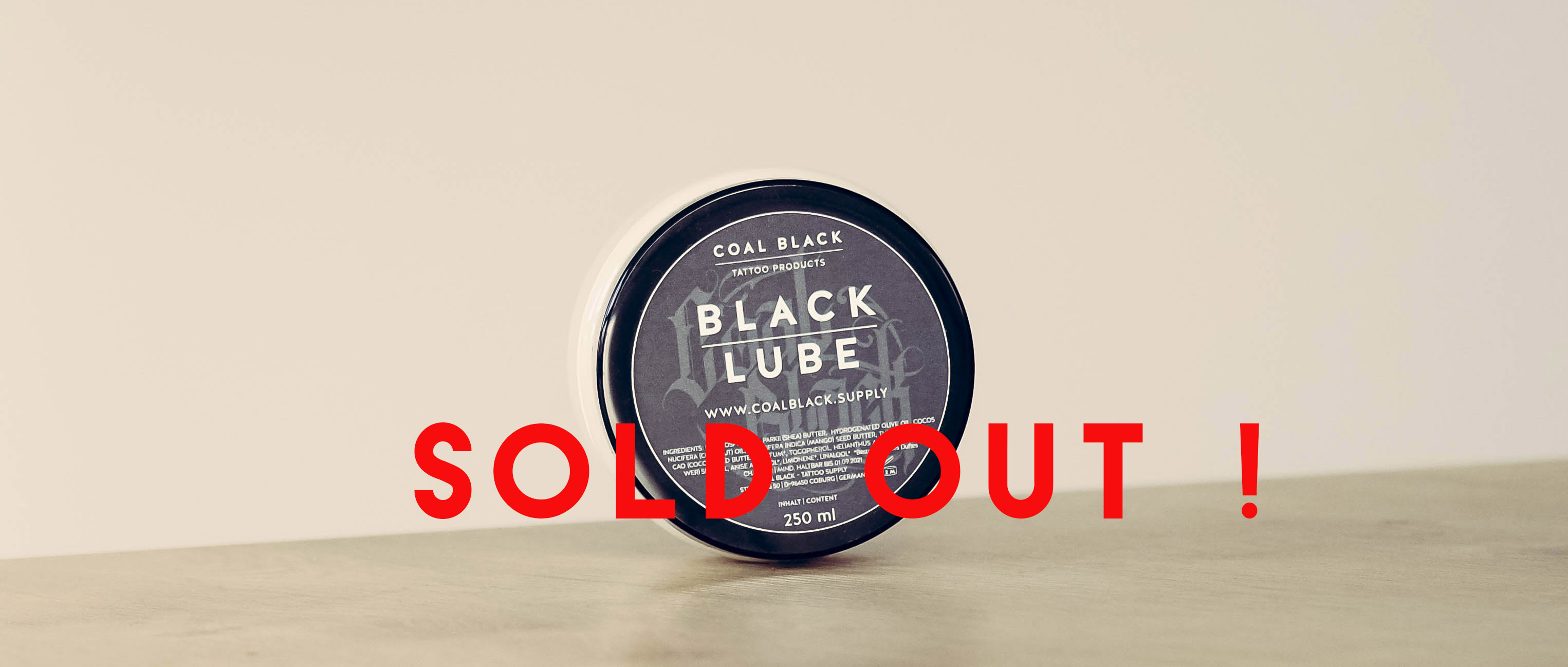 Coal Black - Tattoo Products